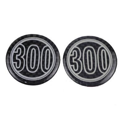 Black 3D Real Carbon Fiber GTS300 Emblem Stickers Decals Set for Vespa GTS300