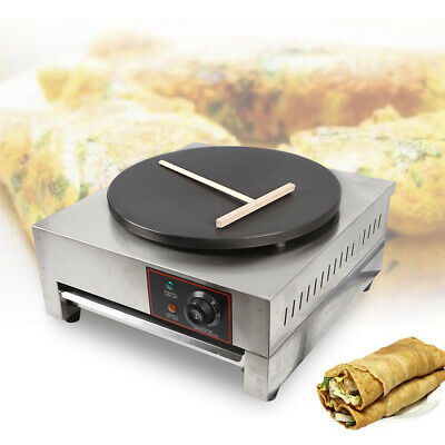 Commercial Electric Crepe Maker 2.8kw Single Griddle Pancake Nonstick Hot Plate