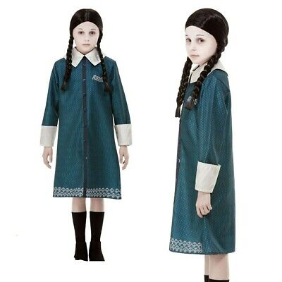 Mädchen Addams Family Wednesday Kinder Kostüm Halloween Gothic - Wednesday Addams Kostüm Kinder