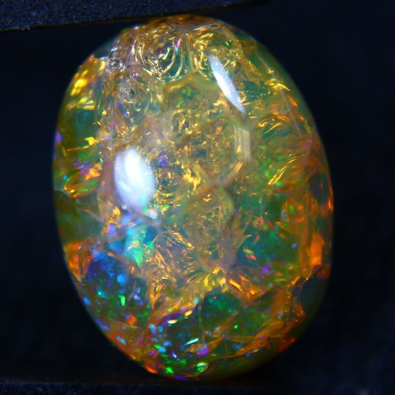 6.82 ct Finished Ethiopian Opal Gemstone 15x12x6 mm - Exact Lot Shown op179
