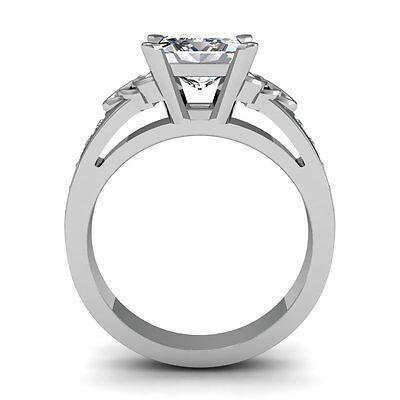 1.44ct Asscher Celtic Natural Diamonds Engagement Ring VS2-G GIA Platinum Gold 2