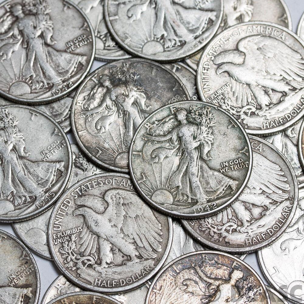 WALKING LIBERTY HALF DOLLARS , 90% SILVER COIN LOT , CIRCULATED, CHOOSE HOW MANY