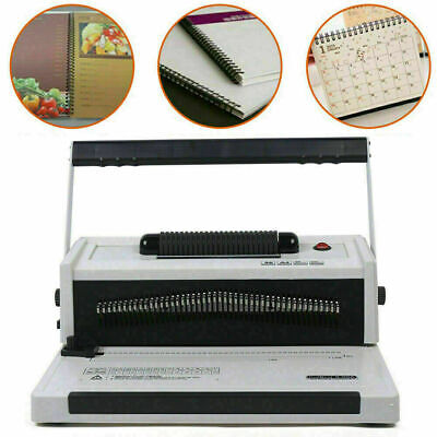 S20a Manual Spiral Plastic Single Coil Binding Machine Metal Coil Paper Binder