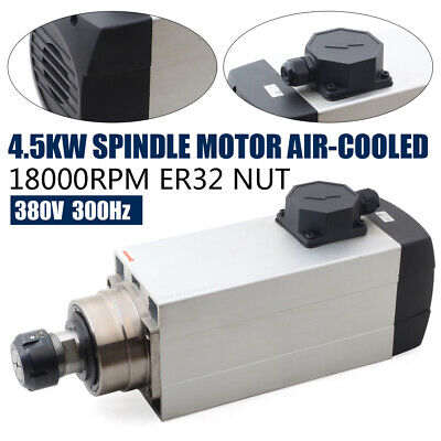 4.5kw 380v 9.5a Air Cooled Spindle Motor Er32 300hz 18000rpm Fcnc Router Machin