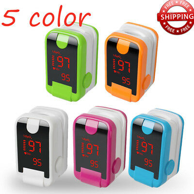 Fingertip Pulse Oximeter Blood Oxygen Meter Spo2 Oxygen Saturation Lanyard Fda