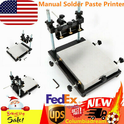 Pro Manual Solder Paste Printer Pcb Smt Stencil Printing Platform Machine Us New