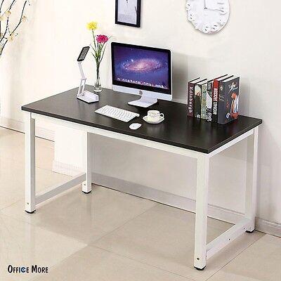 Wood Black Computer Desk PC Laptop Table Workstation Study Home Office Furniture