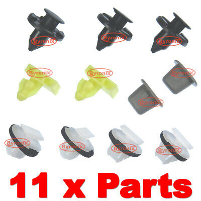 10x Wheel arch surround trim clips for Nissan Juke /& X-Trail Wing moulding clip