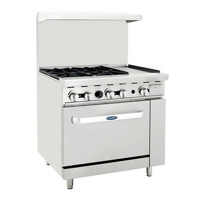 Atosa Ato-4b12g Cookrite 36 4 Burner Gas Range W Oven