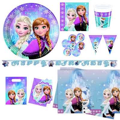 indergeburtstag Deko Anna Elsa Geburtstag Party Deko Set (Frozen Party Set)