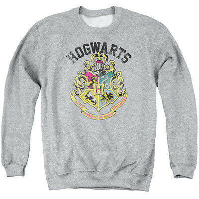 HARRY POTTER HOGWARTS CREST Licensed Adult Pullover Crewneck Sweatshirt SM-3XL