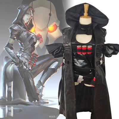 Overwatch OW Reaper Genderbend Trans Gender Women Cosplay Costume Outfit Set