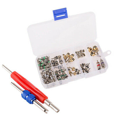 102pcs Car R12 & R134a A/C Air Conditioner Schrader Valve Core Remover Tool Kit