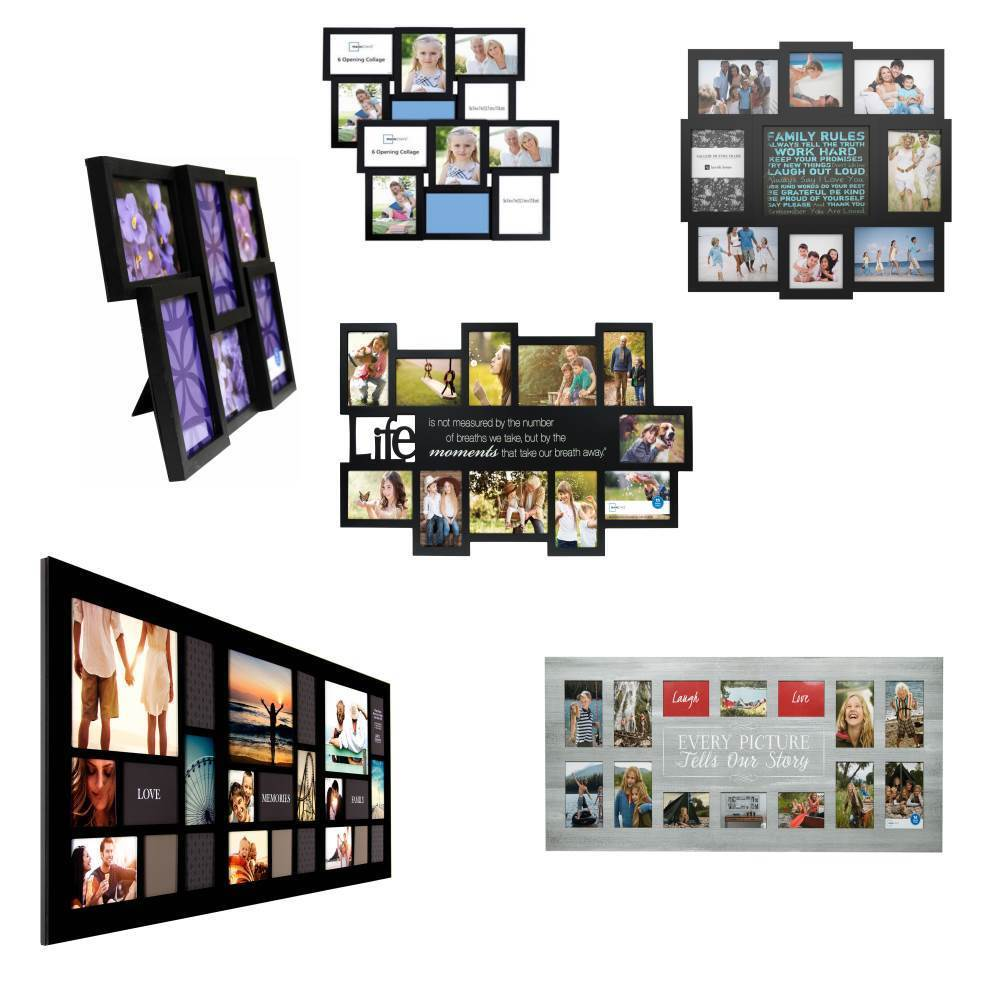 COLLAGE PHOTO FRAME SET Picture Frames for Multi Photo Famil