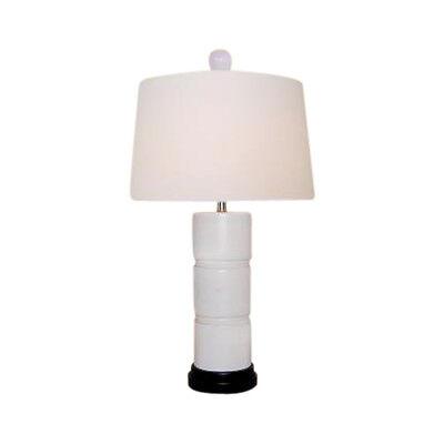 Beautiful White Jade Stone Bamboo Style Table Lamp 25.5