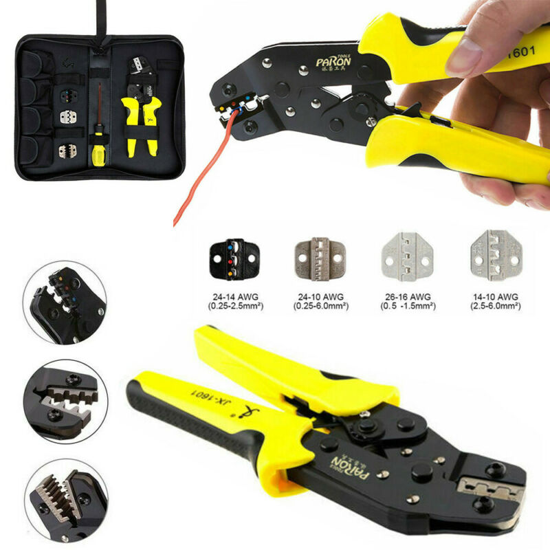Ratcheting Wire Terminal Crimpers Crimping Pliers Cord End Terminals Tool 4 in 1