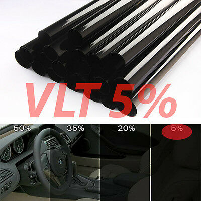 "Uncut Window Tint Roll 5% VLT 25"" 20 ft feet  Home Commercial Office Auto Film"