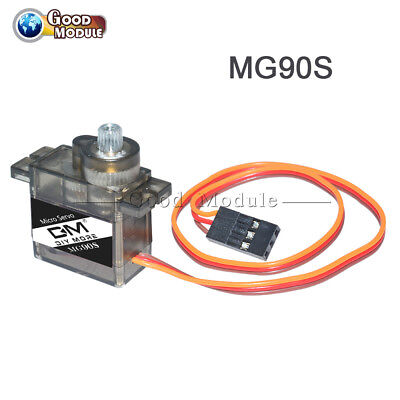 MG90S 9G Metal Gear Servo Motors Parts 4.8-6V for RC Helicopter Drone Accessory