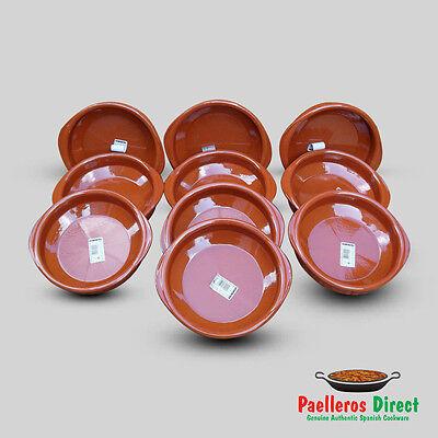 Set of 10 x 18cm Spanish Terracotta Tapas Dishes / Cazuelas