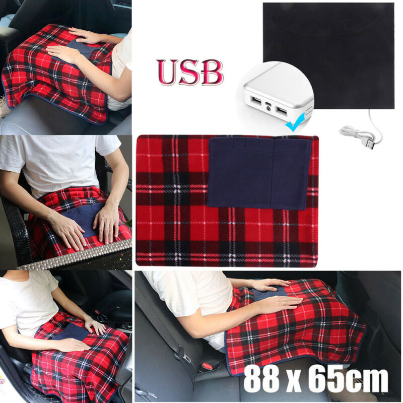 Electric Heated Winter Warm Blanket Cover Car Office Use Hea