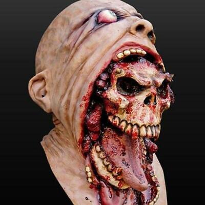 Maschera Horror per Halloween mostro zombie carnevale scheletro teschio adulti