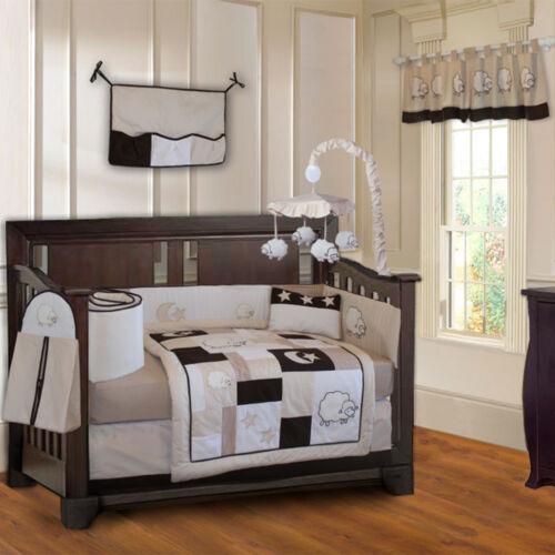 BabyFad 10 Piece Sheep / Lamb  Baby Crib Bedding set