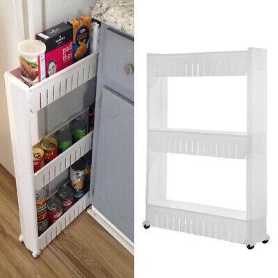3/4Tier Mobile Shelving Unit Slim Slide Pantry Shelves Cart for Kitchen Bathroom Kitchen Shelving Unit