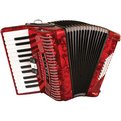 Hohner 1304 48-Bass Piano Accordion, Red