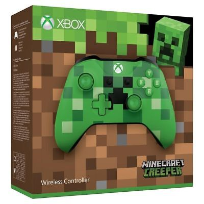 Xbox One Wireless Controller - Minecraft Creeper Brand New & Sealed UK PAL