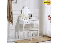 White wood dressing table & matching foot stoll Brand new in the box £99