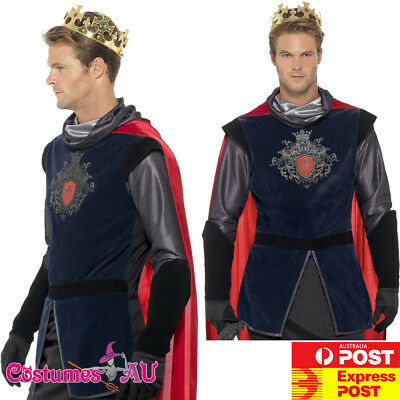 Mens King Arthur Costume Knight Medieval Lancelot Game of Thrones Renaissance