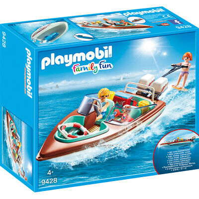 Playmobil Family Fun Floating Speedboat with Underwater Motor Playset 9428
