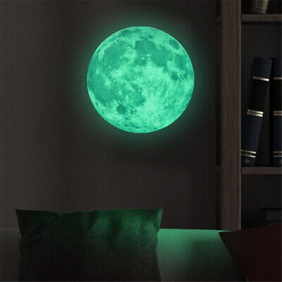Luminous Glow in the Dark Moon Star Wall Sticker Home Art Decor Kids Room Decals