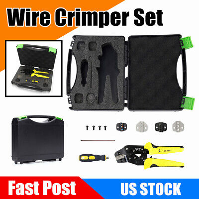 5 In 1 Professional Wire Crimper Terminals Tool Crimping Pliers Kit End Set Us