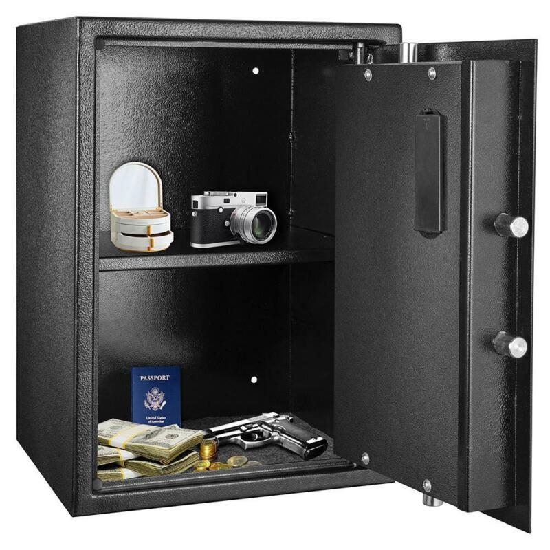 New Digital Safe Box Shotgun Security Cabinet Double-deck Cash Gun Money Home US