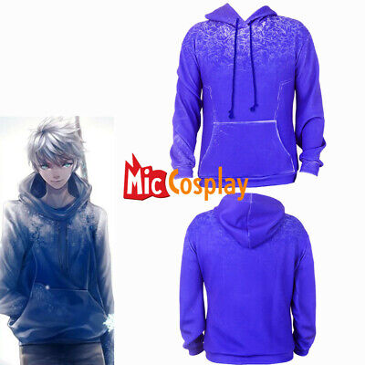 Rise of the Guardians Jack Frost Hoodie Cosplay Costume Men Halloween Outfit