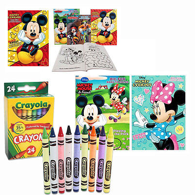 4 MICKEY MINNIE MOUSE Disney Jumbo Coloring Activity Books, for Children + - Minnie Mouse Coloring