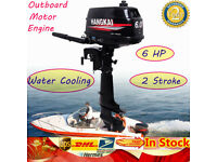 6HP 2Stroke Outboard Motor Engine Inflatable Boat Engine W/ Water Cooling System