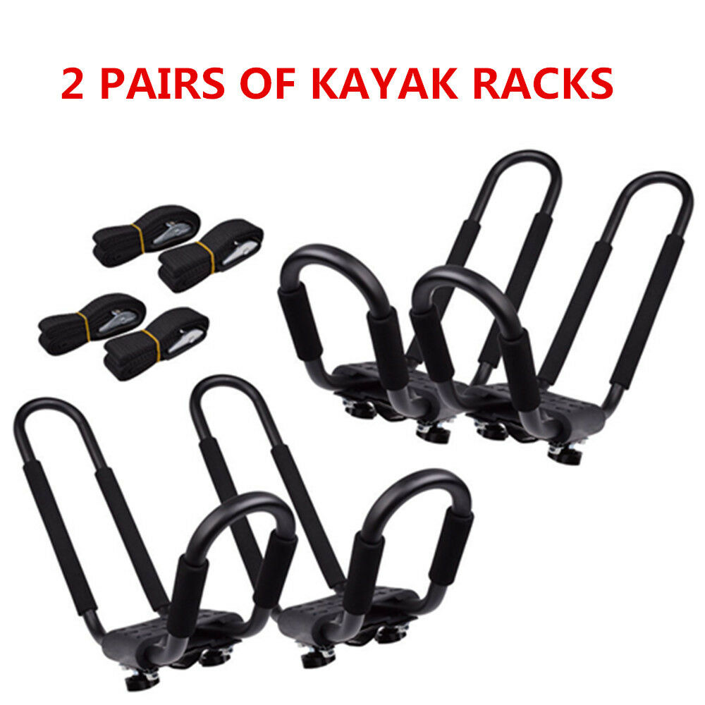 Kayak Roof Carrier >> 2 Pair Canoe Boat Kayak Roof Rack Car Suv Truck To In