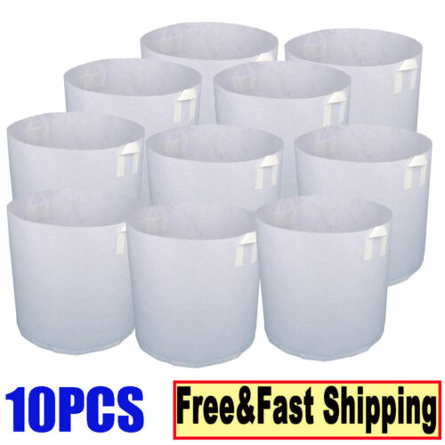 5/10PC 3 Gallon Grow Bags Fabric Pots Root Pouch With Handle