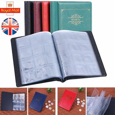 Collector Coin Album 120 coins A-Z 10p pence 50p £1 €1 €2 Folder Book Black BL1