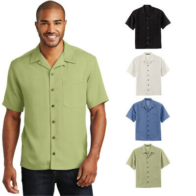 - Mens Classic Camp Shirt Bowling Retro Stain Resist Vent Pocket Button Down S535