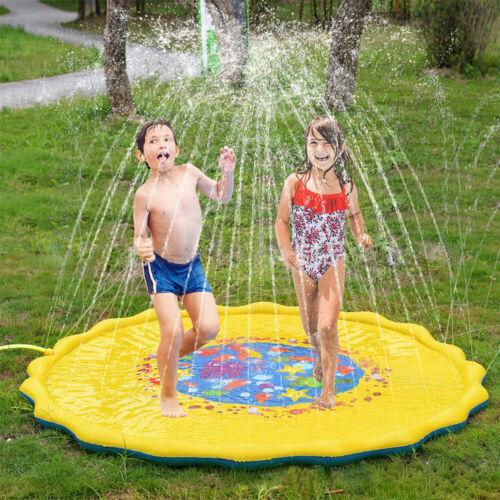 New Splash Pad Sprinkler Wading Pool Water-Filled Play Mat Outdoor Swimming Pool Baby