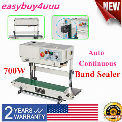 Auto Vertical Continuous Plastic Bag Band Sealer Sealing Machine Cbs-730i 700w