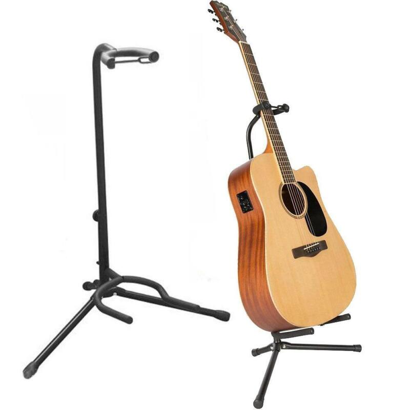 New Tubular Acoustic/Electric Bass Guitar Stand Holder Black