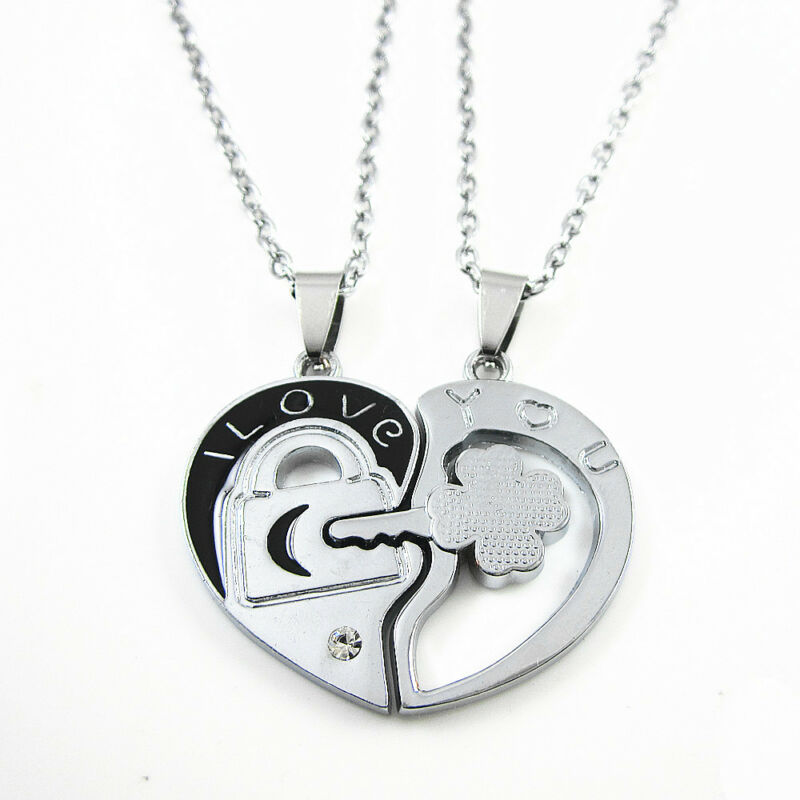 heart necklace for couples - photo #5