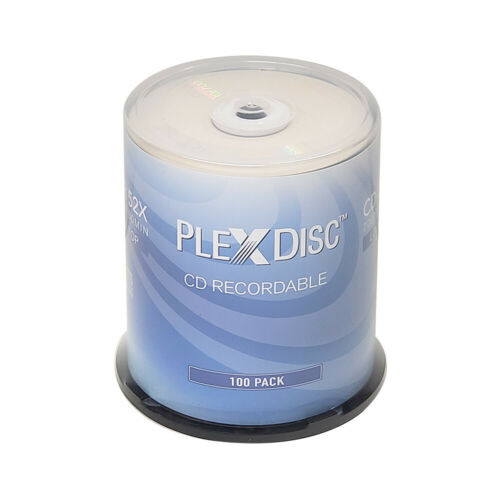 100 PlexDisc CD-R 700MB 80 Minute 52x Recordable Disc - 631-805-BX