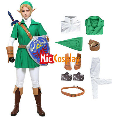 Legend Zelda Ocarina link Cosplay Costume Men Halloween Outfit - Zelda Halloween Costume Link
