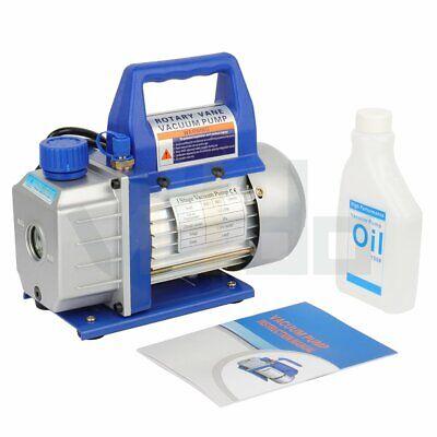 3.5cfm Deep Vacuum Pump Rotary Vane 14hp Ac 110v R410a R134 Hvac Refrigerant