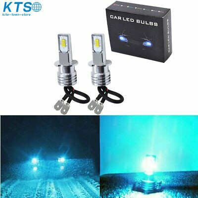 H3 LED Fog Lights Conversion Bulbs Kit 35W 4000LM 8000K Ice Blue Plug And Play